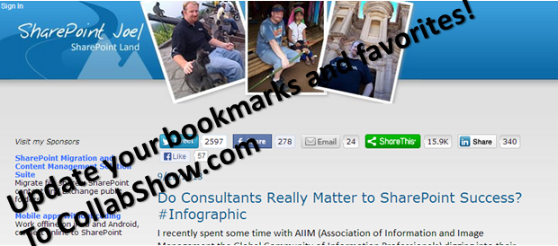 SharePointJoel now CollabShow.com